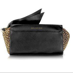 Diane von Furstenberg Zip and Go Leather Clutch